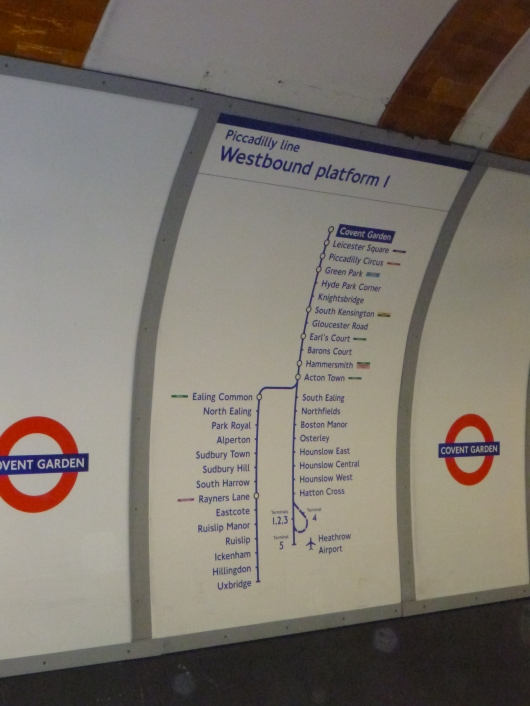Covent Garden's Underground map.