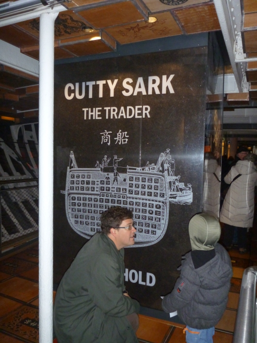 Schematic showing how tea and other crates were packed aboard the Cutty Sark.