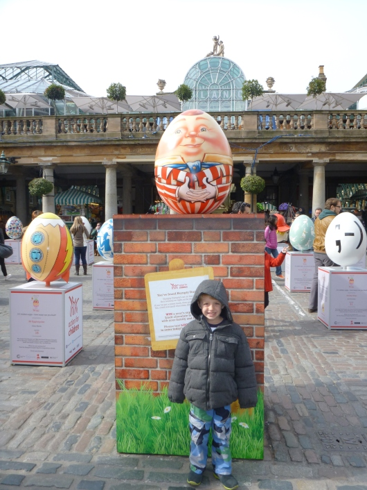 "We visited London just after Easter, which meant we caught a few leftover celebrations, such as ""The Big Egg Hunt."" This was an art-installation-turned-auction with the proceeds going toward Action for Children Network, a local charity benefiting the welfare and protection of child abuse victims."