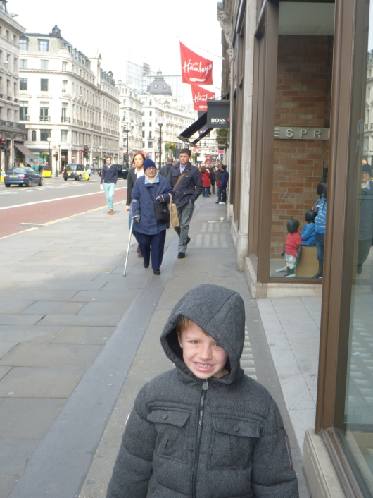 T on Regent Street on the way to Hamleys.