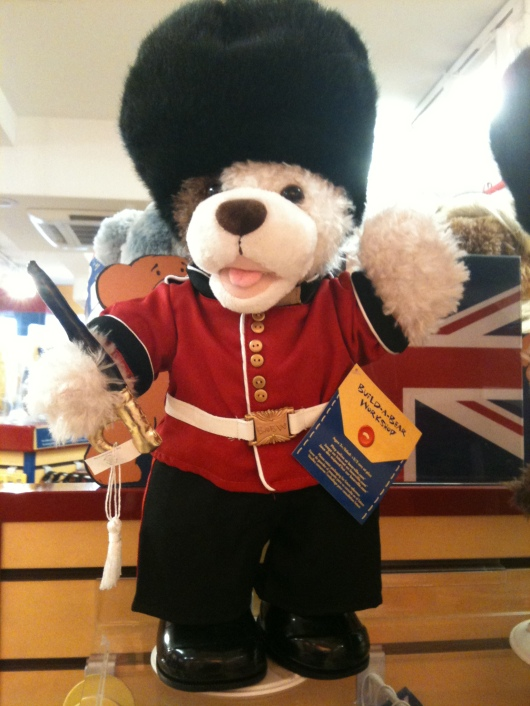 Cute local flavor on display at the Covent Garden Build-a-Bear.