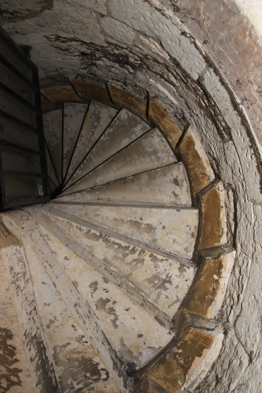 Lots of stairs like this at the Tower of London, both to look at and to climb.