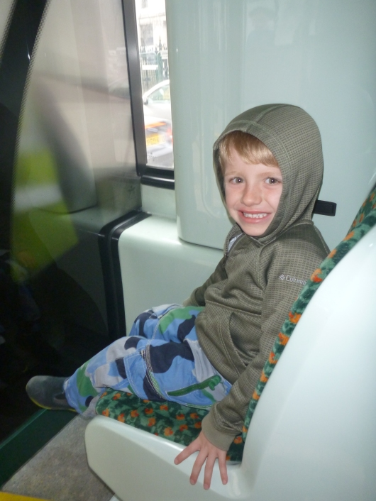 "T in the ""special seat"" on Bus 15, the line that runs right in front of Hamleys toy store on Regent Street."