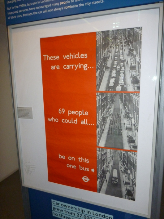This poster was quite telling of how just one bus can clear congested areas of London.