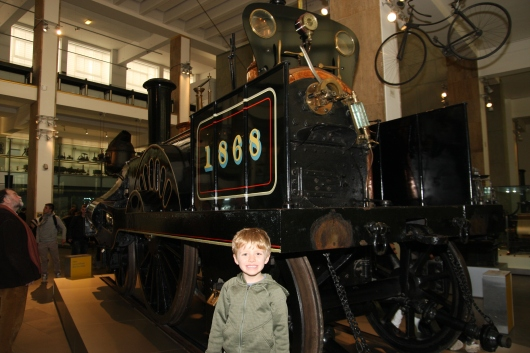 T found the steam engine at Science Museum, London. Choo choo!