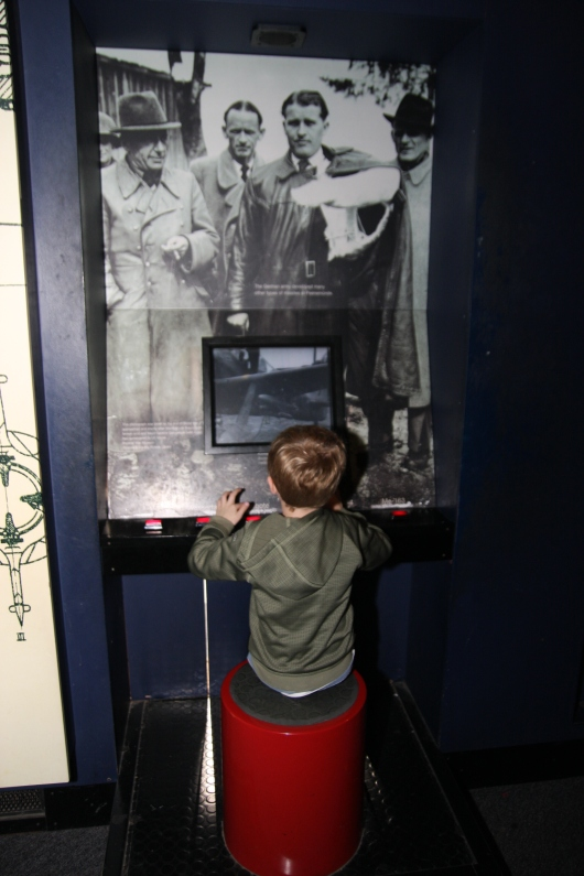 T cracking codes at the Alan Turing exhibit at the Science Museum, London.