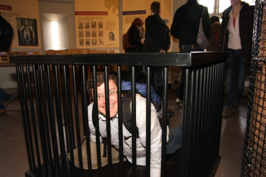 C caged up at the Tower of London.
