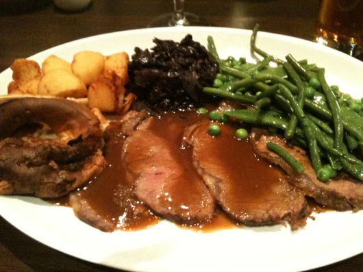 Sunday Roast from Covent Garden Grill.