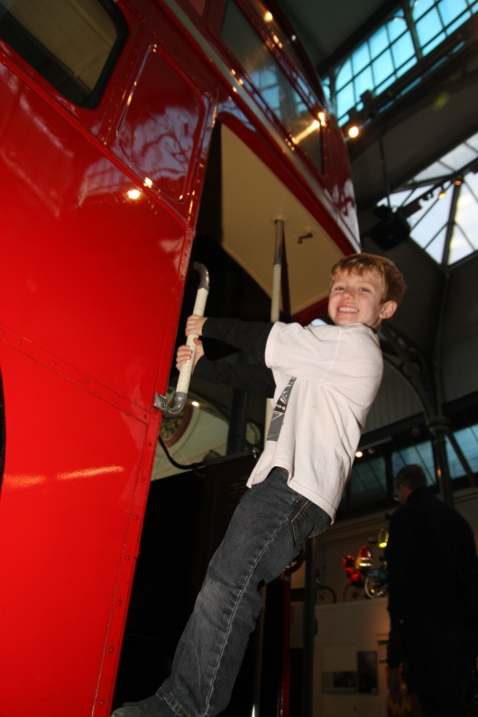 T had so much fun at the London Transport Museum!