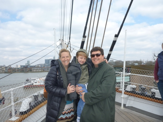 The three of us aboard Cutty Sark. It was a great day for a sail, even if just a pretend one.