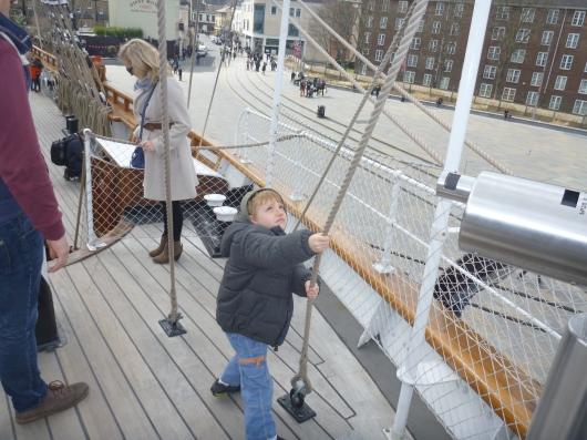 T loved the ropes aboard Cutty Sark.