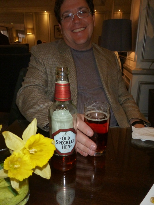 C with the Old Speckled Hen in The Waldorf Hilton's executive lounge. No, that's not a new nickname for me, RMT'ers.