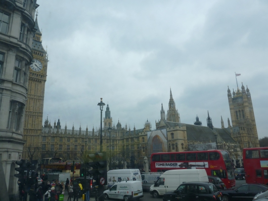 BONG BONG BONG! It's Big Ben and Parliament, or a sure sign we must be in London, baby!