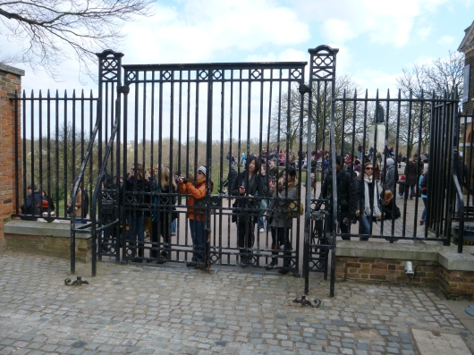 These folks would not pay to go in for their photo opp on the Prime Meridian. But they walked up the hill... why stop now?!