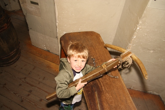T finds a cross-bow at the Tower of London.
