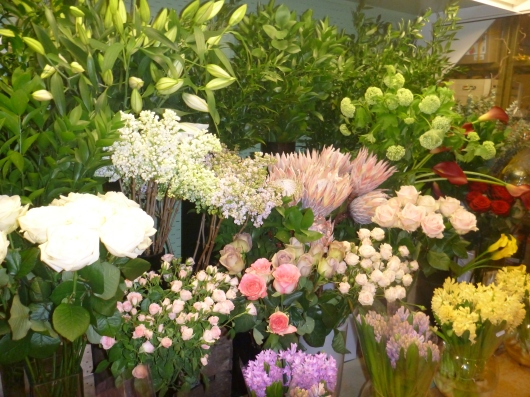 Beautiful blooms at Harrods.