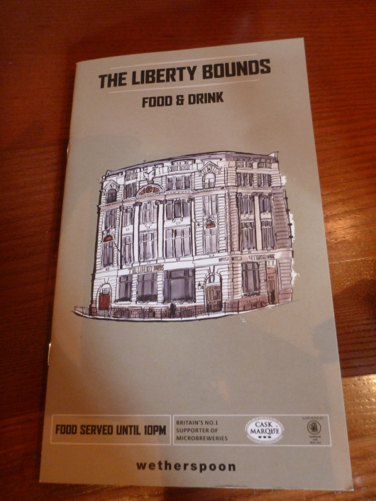The Liberty Bounds pub near the Tower of London is a part of the Wetherspoon family of family-friendly pubs located throughout the city.