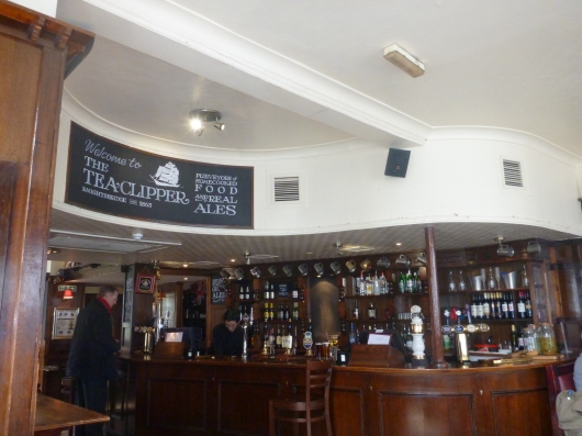 Inside of The Tea Clipper in Knightsbridge, a lovely pub near Harrods and also on the way to many museums nearby, too.