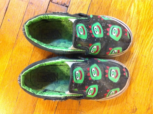 T's Brobie VANS were well-loved and -worn, and so this goodbye was long overdue.