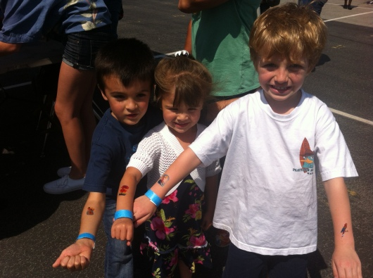 Kids with their tats at their school carnival!