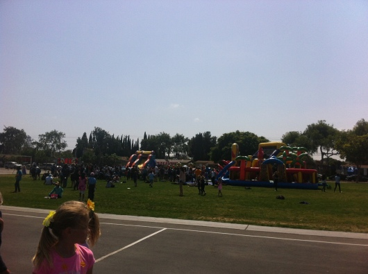 T's school carnival was a whole lot of fun, Friday or not!