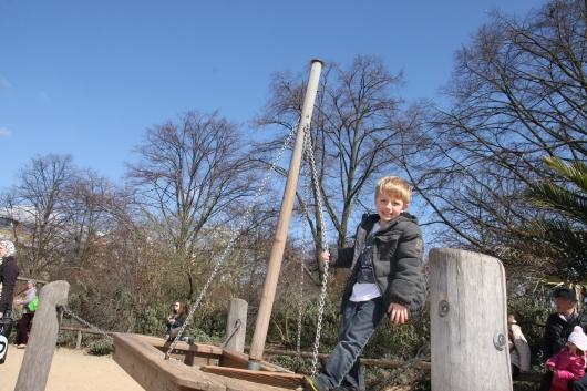 A smaller ship to sail at the Diana Princess of Wales' Memorial Playground.