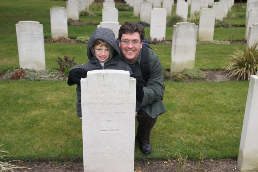 T and C with Riccardo's headstone.