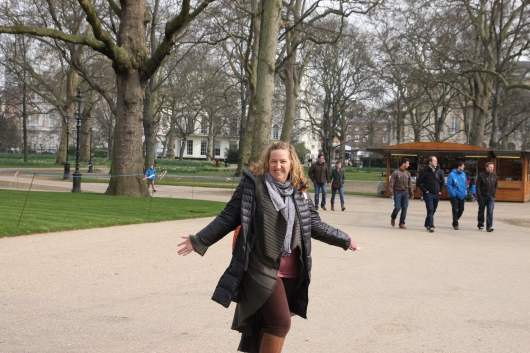 Hello from The Green Park near Buckingham Palace in London!