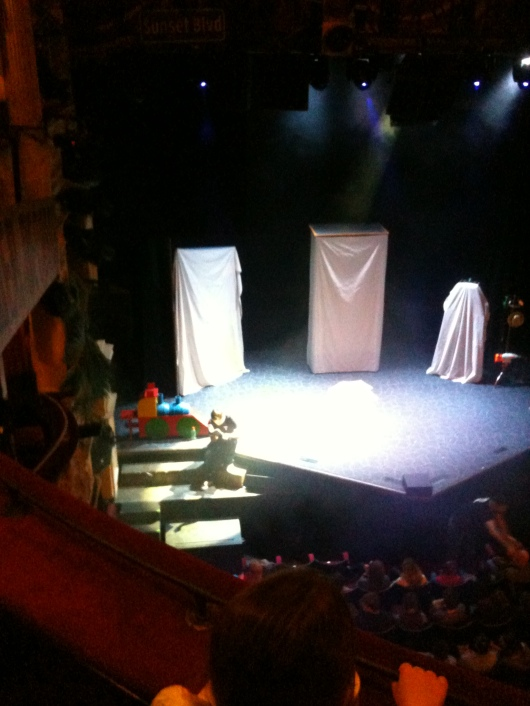 Stage set for Potted Potter.
