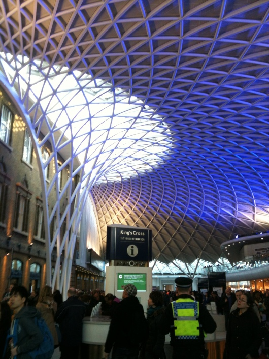 King's Cross Rail Station in London.