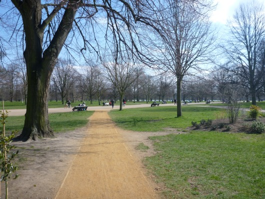 Another view inside of Kensington Gardens, one of The Royal Parks large open spaces inside of central London.