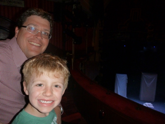 C and T waiting for Potted Potter to start.