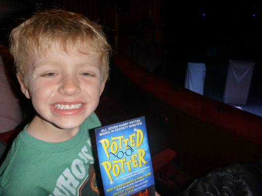 T is so excited to be at Potted Potter. It was after this photo that I was instructed to put away the camera. Oops!