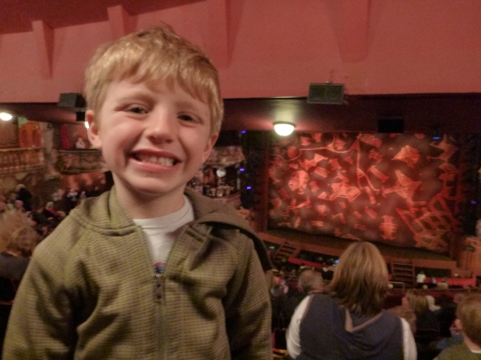 T getting ready to see The Lion King at the Lyceum Theatre in London.