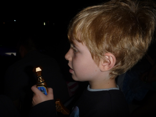 "T and his new sword at Disney on Ice's ""Treasure Trove"" performance at Long Beach Arena (CA)."
