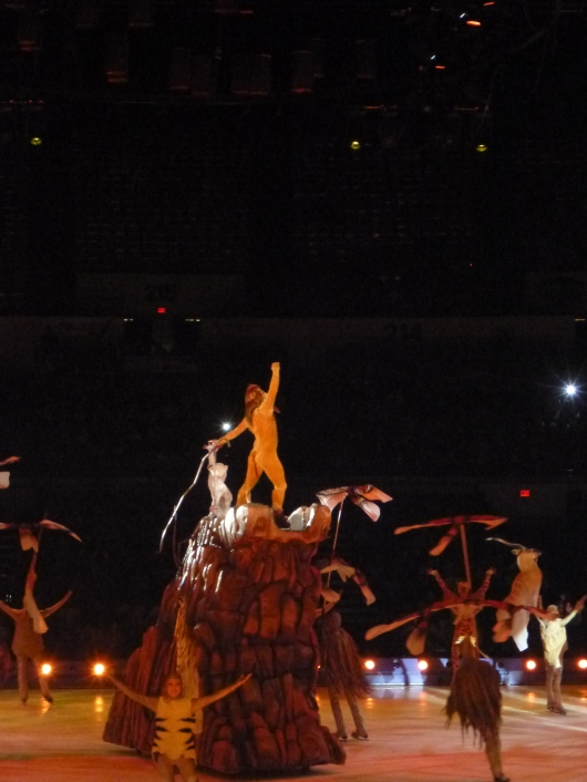 "The Lion King at Disney on Ice's ""Treasure Trove"" show at Long Beach Arena (CA)."