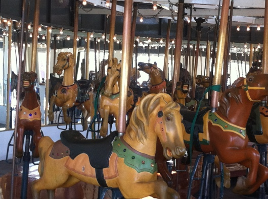 The carousel at The Pike at Long Beach (CA).