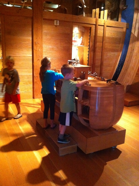 T and his friend played at this stationary ark-house for almost 20 minutes! It was a wonder (and so wonderful) to witness.