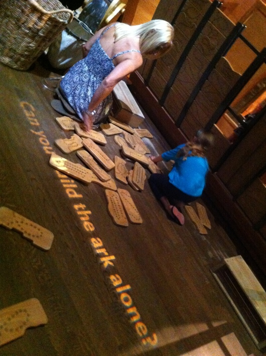 Our friends helped to build part of the ark by way of this puzzle station.