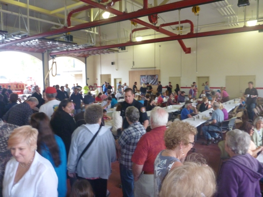 Everyone enjoyed the pancakes and visiting with neighbors and friends at La Mesa Fire Station 11's pancake breakfast.