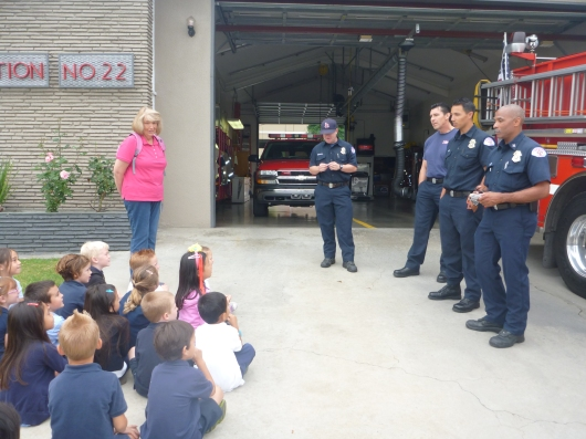 T's class listened as fire fighters from Station 22 talked about their jobs.
