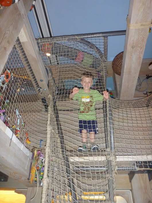 Kids can climb, crank, and create their way through Noah's Ark at the Skirball Cultural Center.