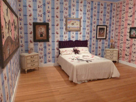 Inside Gary Baseman's bedroom at the Skirball Cultural Center.