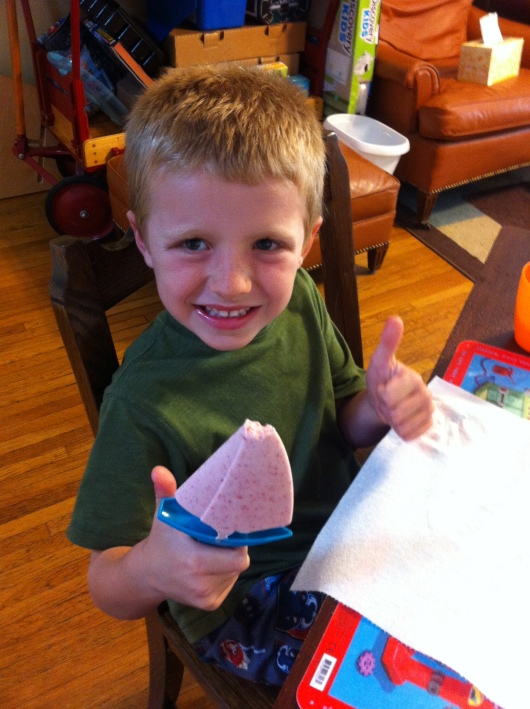 Strawberry ice cream frozen boat FTW, says T!