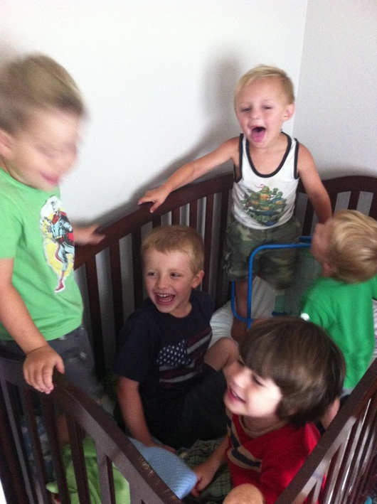 Kids in a crib celebrating Independence Day like nobody else!