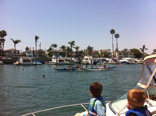 There's great people and boat watching on the 4th of July in Alamitos Bay, Long Beach.