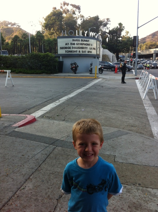T outside of the Hollywood Bowl before his first time there!
