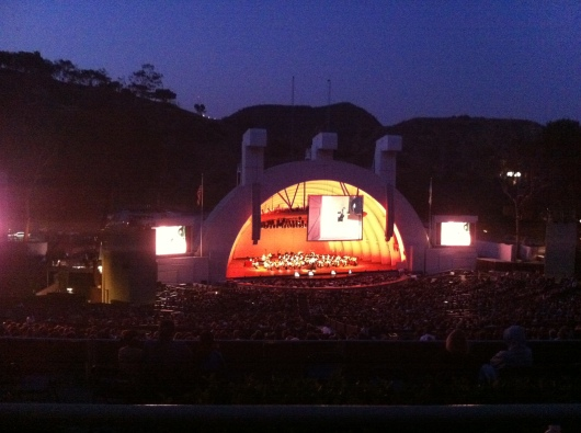 Watching the sky as the sun sets is just one more reason to fall in love with the Hollywood Bowl.