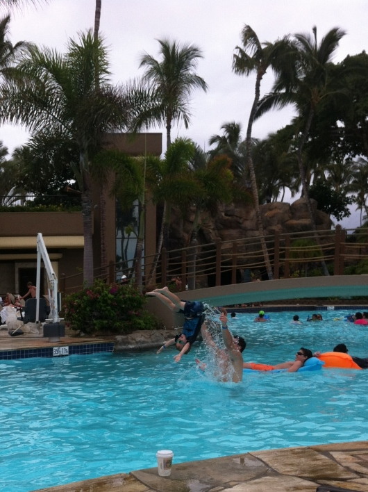 Flipping good times on the Big Island at the Hilton Waikoloa Village Resort!