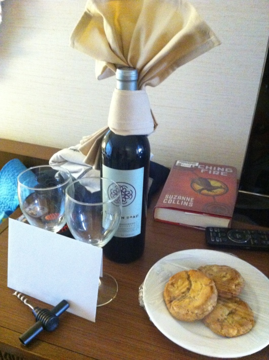 "Mahalo to our hotel for this nice amenity our second day of the stay. T ran into one of the staff members who remembered us from the last stay and somehow arranged for this to be sent up! When we wondered how she could have known our room number, T volunteered, ""I told her!"" Yep, no secrets when you have a five-year-old in tow, but at least he gave up the info to someone who was generous, right?!"